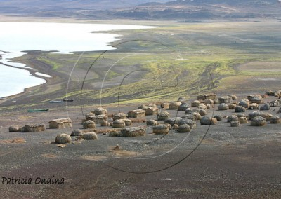 Village El Molo de Layeni, en bordure du lac Turkana