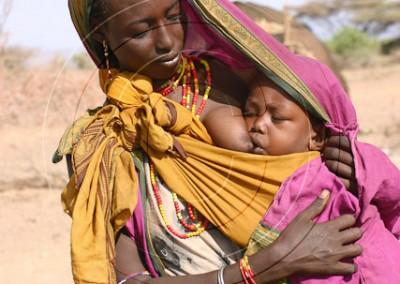 Femme gabbra et bébé