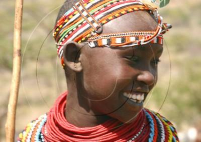Jeune gardienne de chèvres samburu