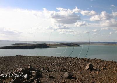 Le lac Turkana, tout au nord