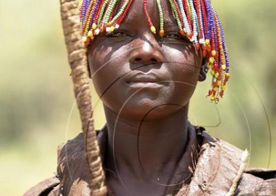 Jeune fille Pokot, peu de temps après son excision