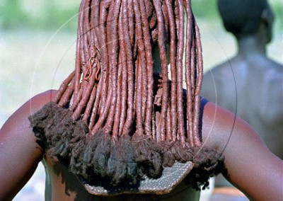 Coiffure traditionnelle himba
